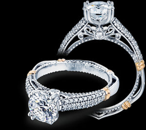 Verragio Parisian Round Diamond Engagement Ring (0.25 CTW)