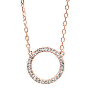 14kt Diamond Circle Pendant