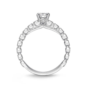 Memoire Toujours White Gold Round Engagement Rings (0.27 ctw)