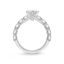 Load image into Gallery viewer, Memoire Toujours White Gold Round Engagement Rings (0.45 ctw)