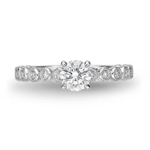 Load image into Gallery viewer, Memoire Toujours White Gold Round Engagement Rings (0.27 ctw)