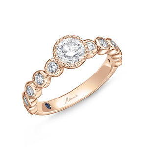 Memoire Toujours Rose Gold Round Engagement Rings (0.43 ctw)