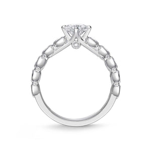 Memoire Toujours White Gold Round Engagement Rings (0.45 ctw)