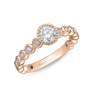 Memoire Toujours Rose Gold Round Engagement Rings (0.27 ctw)