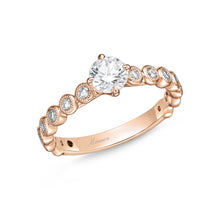 Load image into Gallery viewer, Memoire Toujours Rose Gold Round Engagement Rings (0.35 ctw)