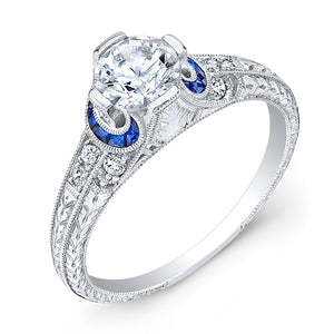 Jolie Designs Round Diamond Vintage Engagement Ring (0.25 CTW)