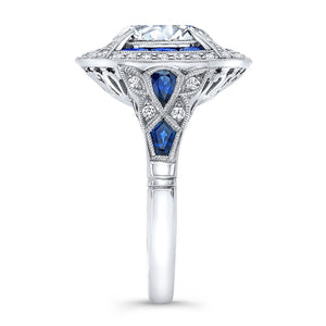 Jolie Designs Round Diamond Vintage Engagement Ring (1.03 CTW)
