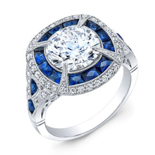 Load image into Gallery viewer, Jolie Designs Round Diamond Vintage Engagement Ring (1.03 CTW)