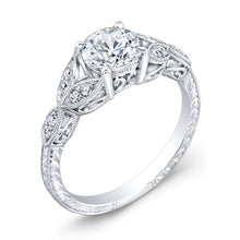 Load image into Gallery viewer, Jolie Designs Round Diamond Vintage Engagement Ring (0.12 CTW)