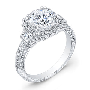 Jolie Designs Round Diamond Halo Engagement Ring (0.51 CTW)