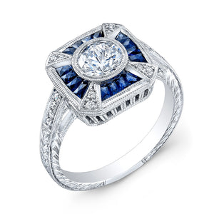 Jolie Designs Round Diamond Vintage Engagement Ring (0.61 CTW)