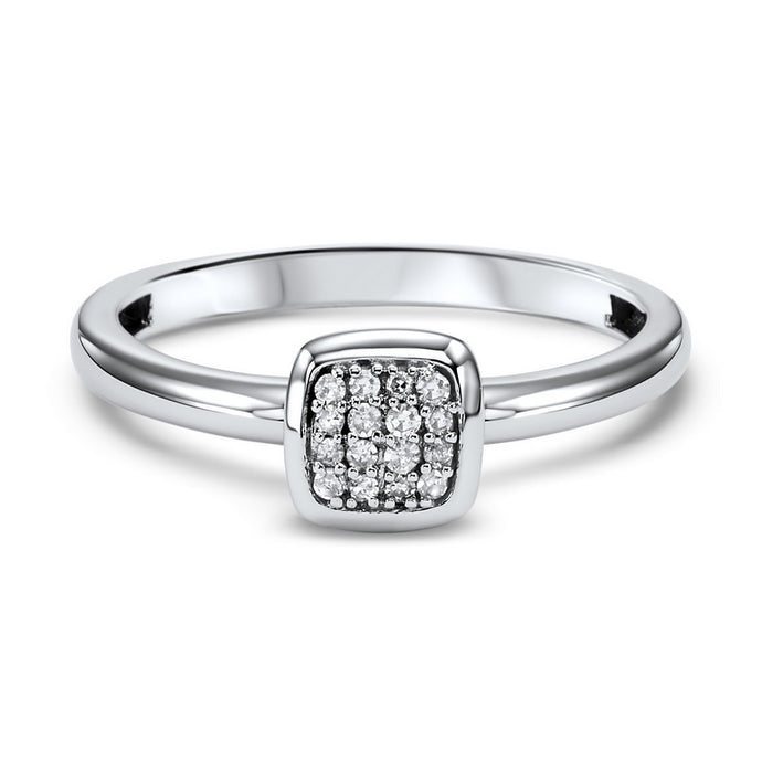 10K White Gold Mixable Fashion Ring