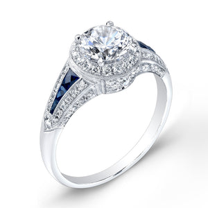 Jolie Designs Round Diamond Vintage Engagement Ring (0.67 CTW)