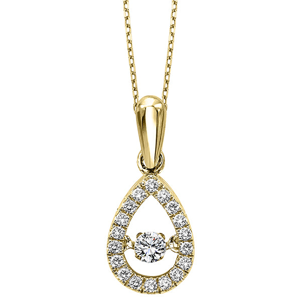 10K White Gold & Diamond ROL Pendant (0.20 CTW)