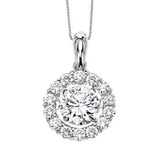 14K Diamond ROL Pendant 1.25 CTW (1 Center CTW)