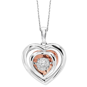 Gold & Silver Diamond Pendant (0.10 CTW)