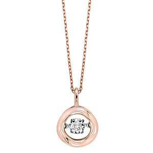 Rose Gold Diamond Rhythm of Love Pendant