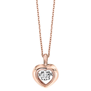 Rose Gold and Diamond Rhythm of Love Pendant