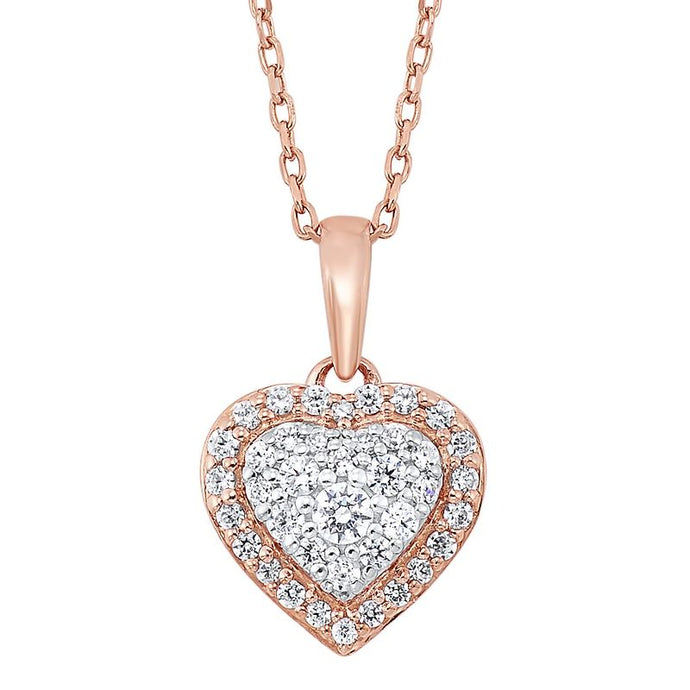14K Rose Gold and Diamond Pendant (0.25 ctw)