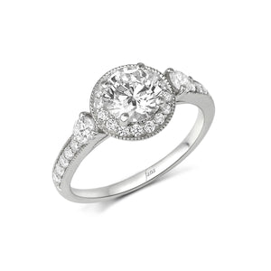 Fana Round Diamond Engagement Ring (0.59 CTW)