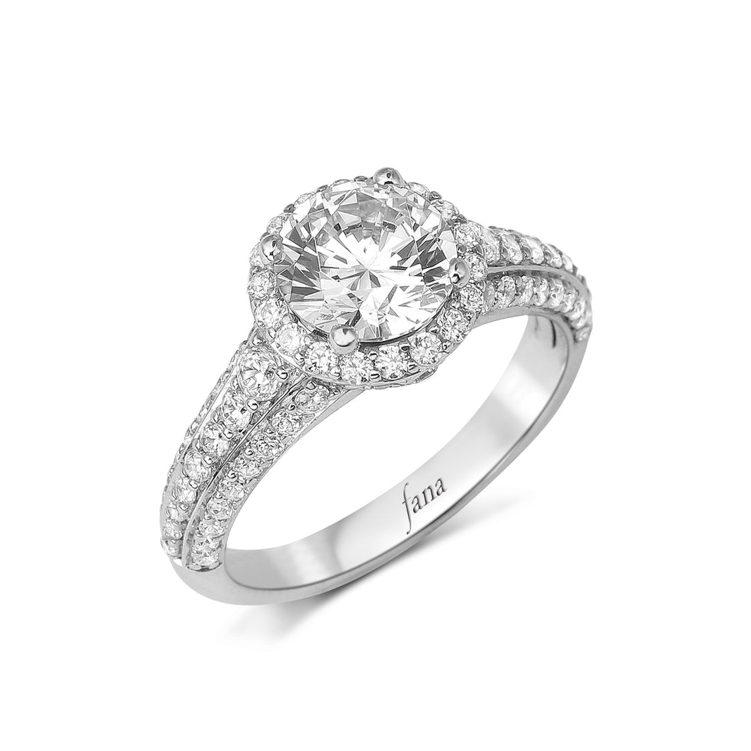 Fana Round Diamond Engagement Ring (0.86 CTW)