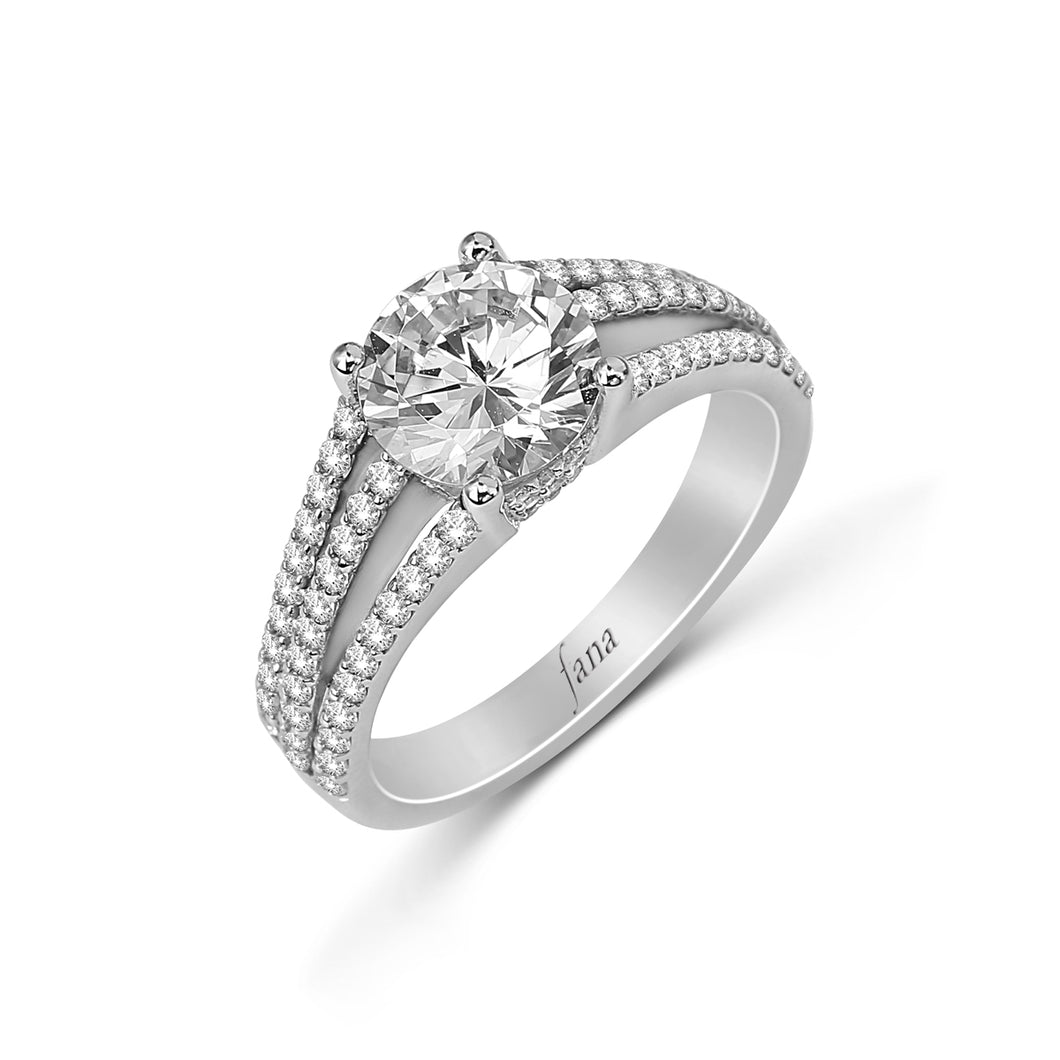 Fana Round Diamond Engagement Ring (0.61 CTW)