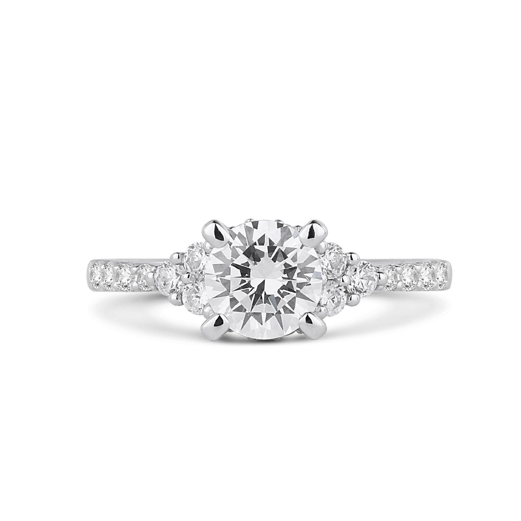 Fana Round Diamond Engagement Ring (0.44 CTW)