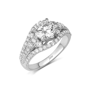 Fana Round Diamond Engagement Ring (0.95 CTW)