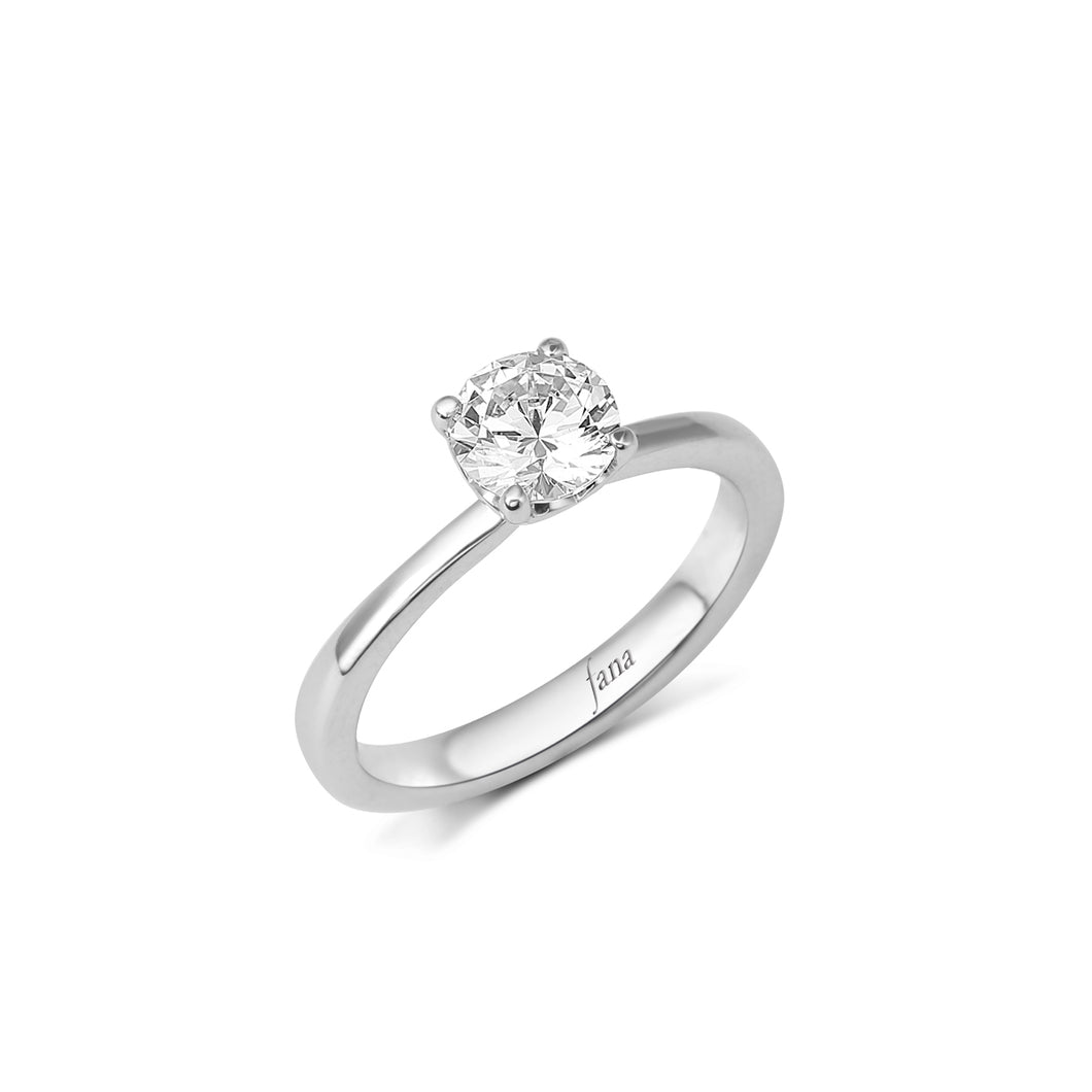 Fana Round Diamond Engagement Ring