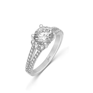 Fana Round Diamond Engagement Ring (0.58 CTW)