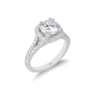 Fana Round Diamond Engagement Ring (0.98 CTW)