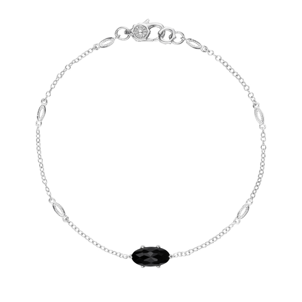 Tacori Horizon Shine Collection Solitaire Oval Gem Bracelet with Black Onyx