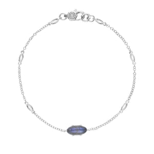Tacori Horizon Shine Collection Solitaire Oval Gem Bracelet with Labradorite