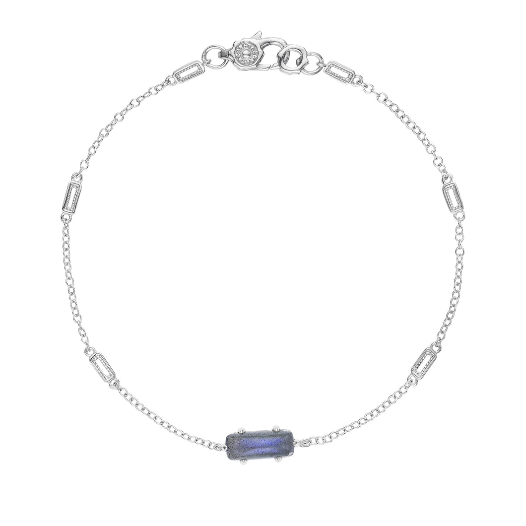 Tacori Horizon Shine Collection Solitaire Emerald Cut Gem Bracelet with Labradorite