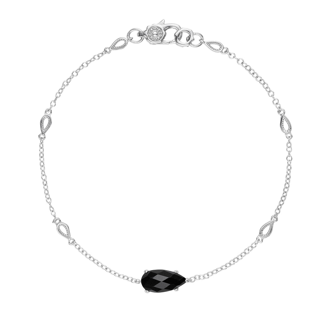 Tacori Horizon Shine Collection Solitaire Pear-Shaped Gem Bracelet with Black Onyx
