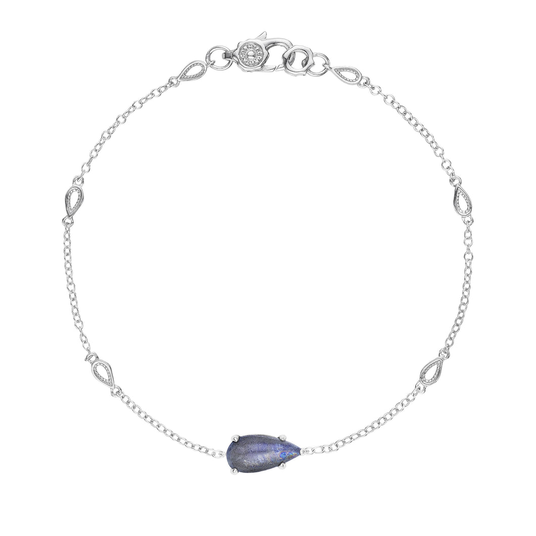 Tacori Horizon Shine Collection Solitaire Pear-Shaped Gem Bracelet with Labradorite