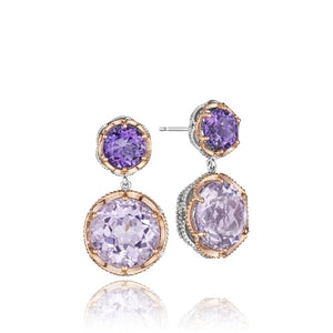 Tacori Lilac Blossoms Gemstone Earring (19.5 CTW)