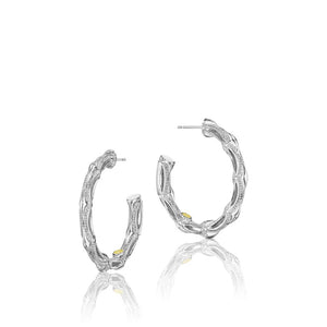 Tacori Classic Rock Silver Earrings
