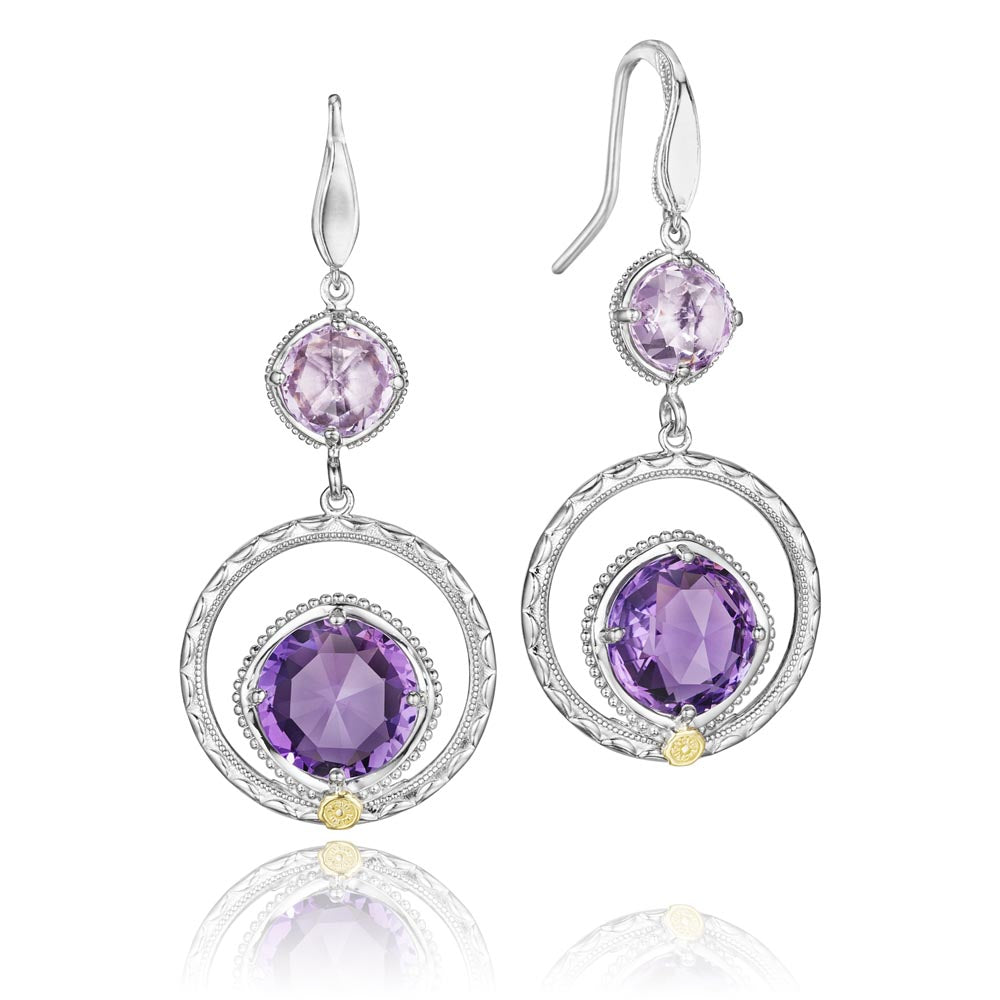 Tacori Lilac Blossoms Gemstone Earring (9.08 CTW)