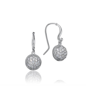 Tacori Sonoma Mist Dew Drop Earrings featuring Pavé Diamonds