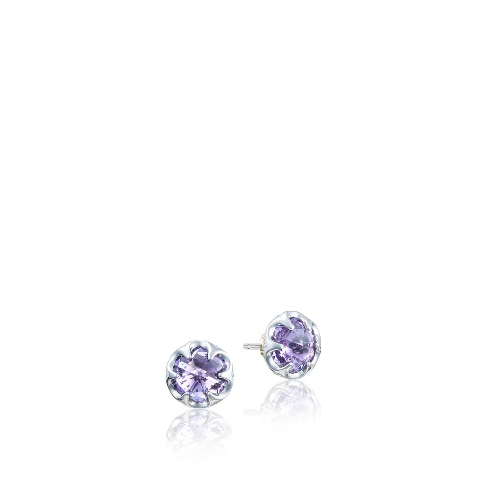 Tacori Sonoma Skies Petite Crescent Bezel Earrings featuring Amethyst