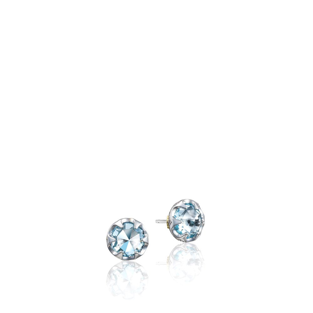 Tacori Sonoma Skies Petite Crescent Bezel Earrings featuring Sky Blue Topaz