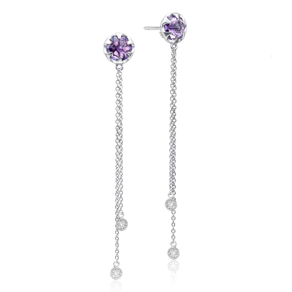 Tacori Sonoma Skies Drop Chain Earrings featuring Amethyst
