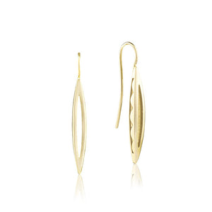 Tacori Pave Surfboard French Wire Earring