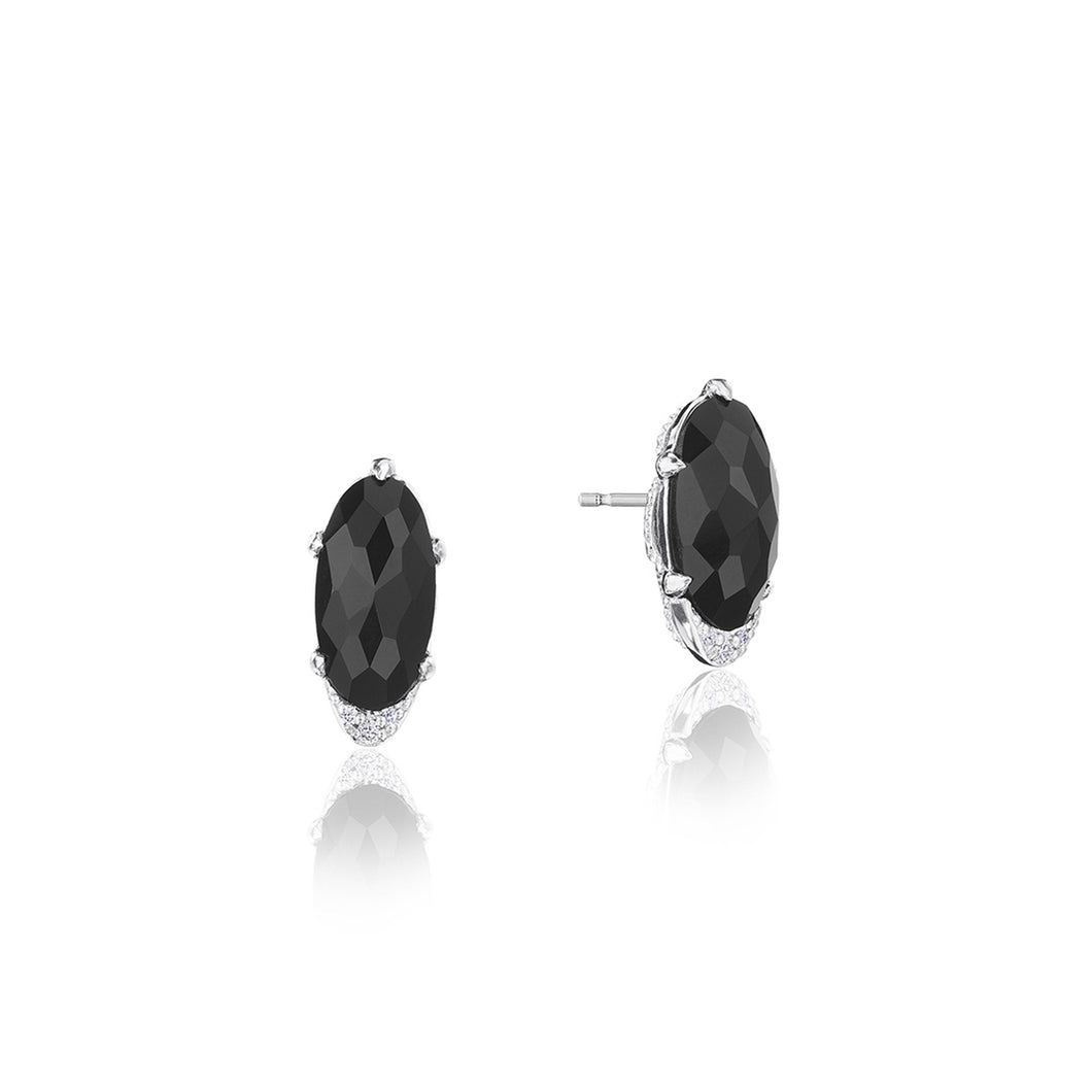 Tacori Horizon Shine Collection Oval-Shaped Gem Earrings with Black Onyx