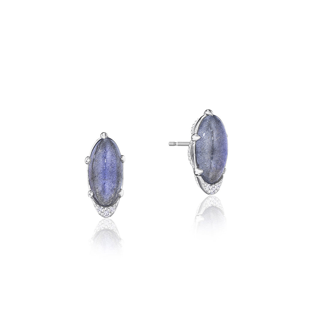 Tacori Horizon Shine Collection Oval-Shaped Gem Earrings with Labradorite