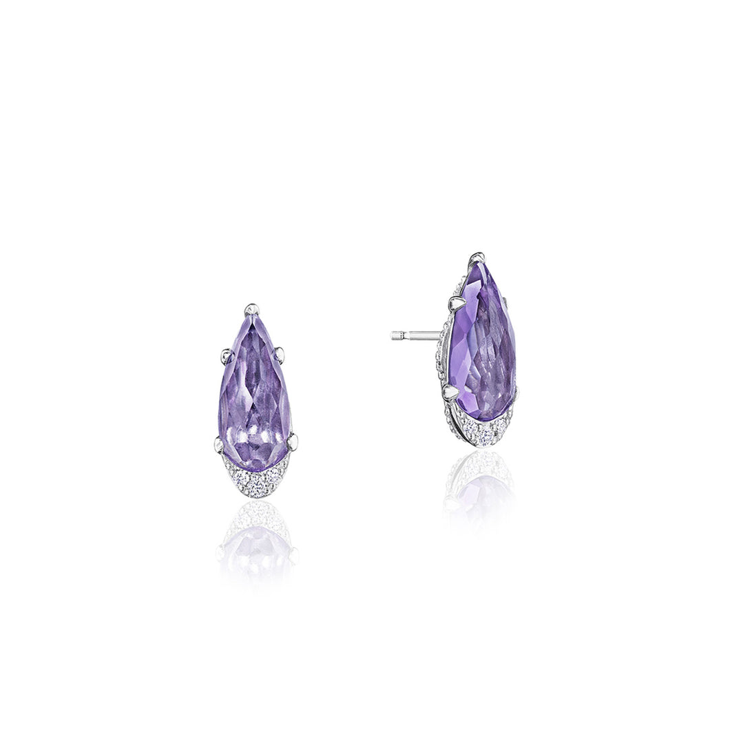 Tacori Horizon Shine Collection Pear-Shaped Gem Earrings with Amethyst
