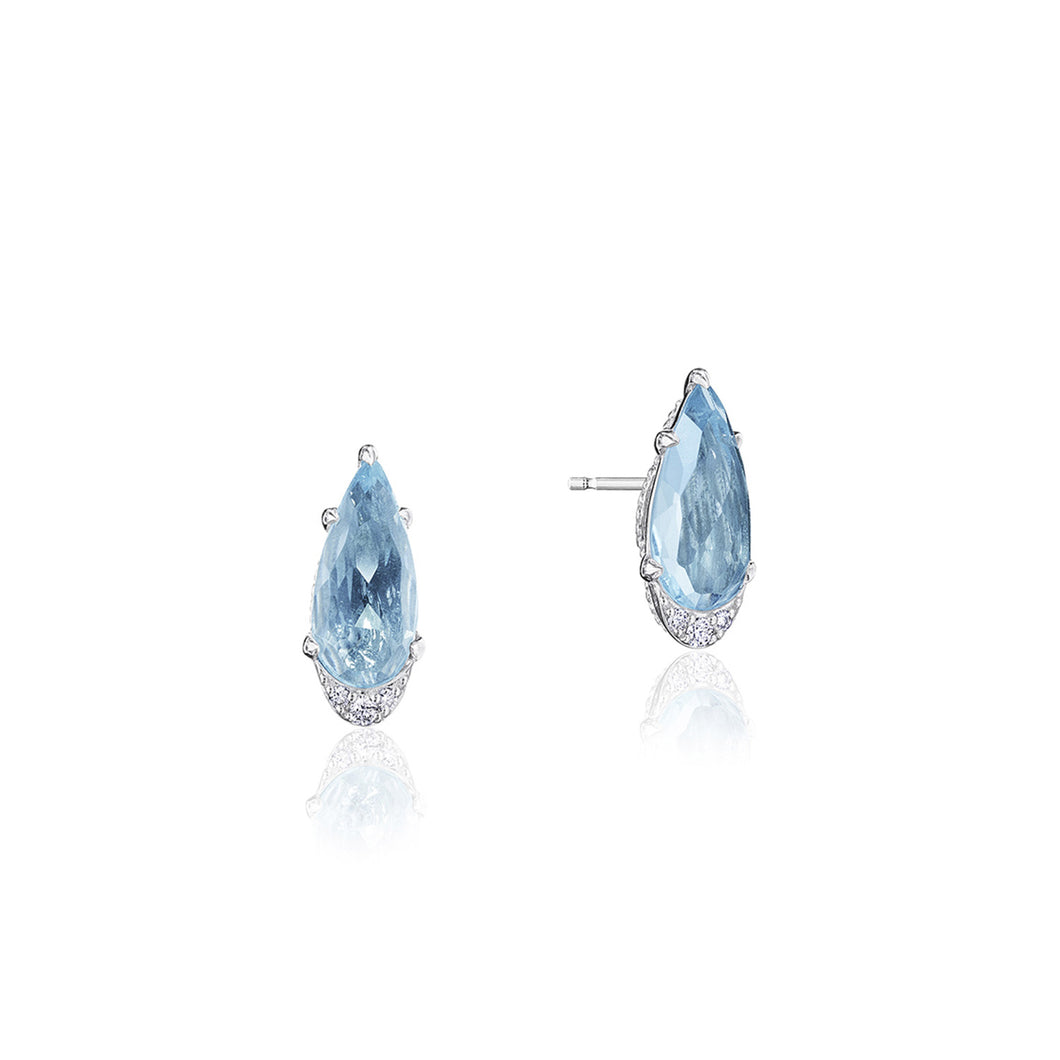 Tacori Horizon Shine Collection Pear-Shaped Gem Earrings with Sky Blue Topaz