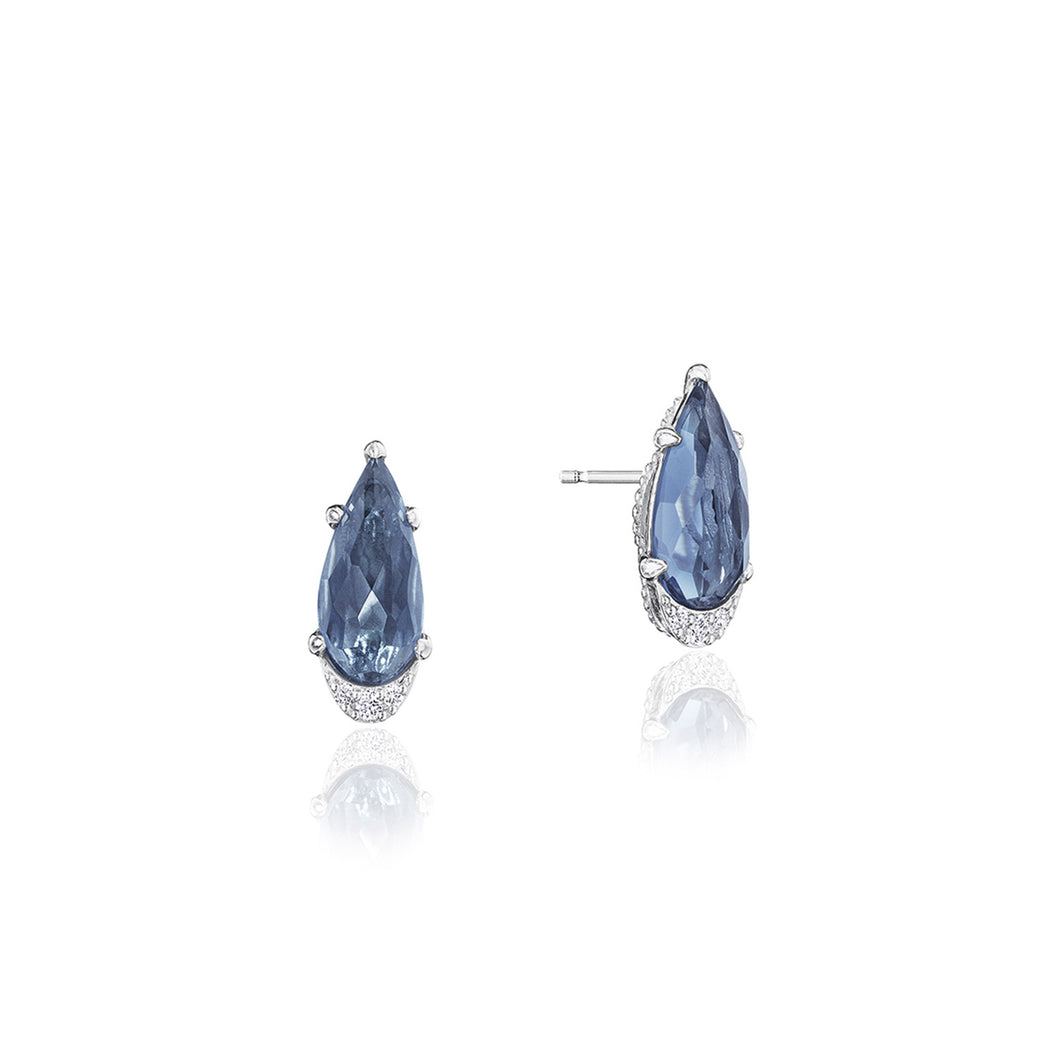 Tacori Horizon Shine Collection Pear-Shaped Gem Earrings with London Blue Topaz