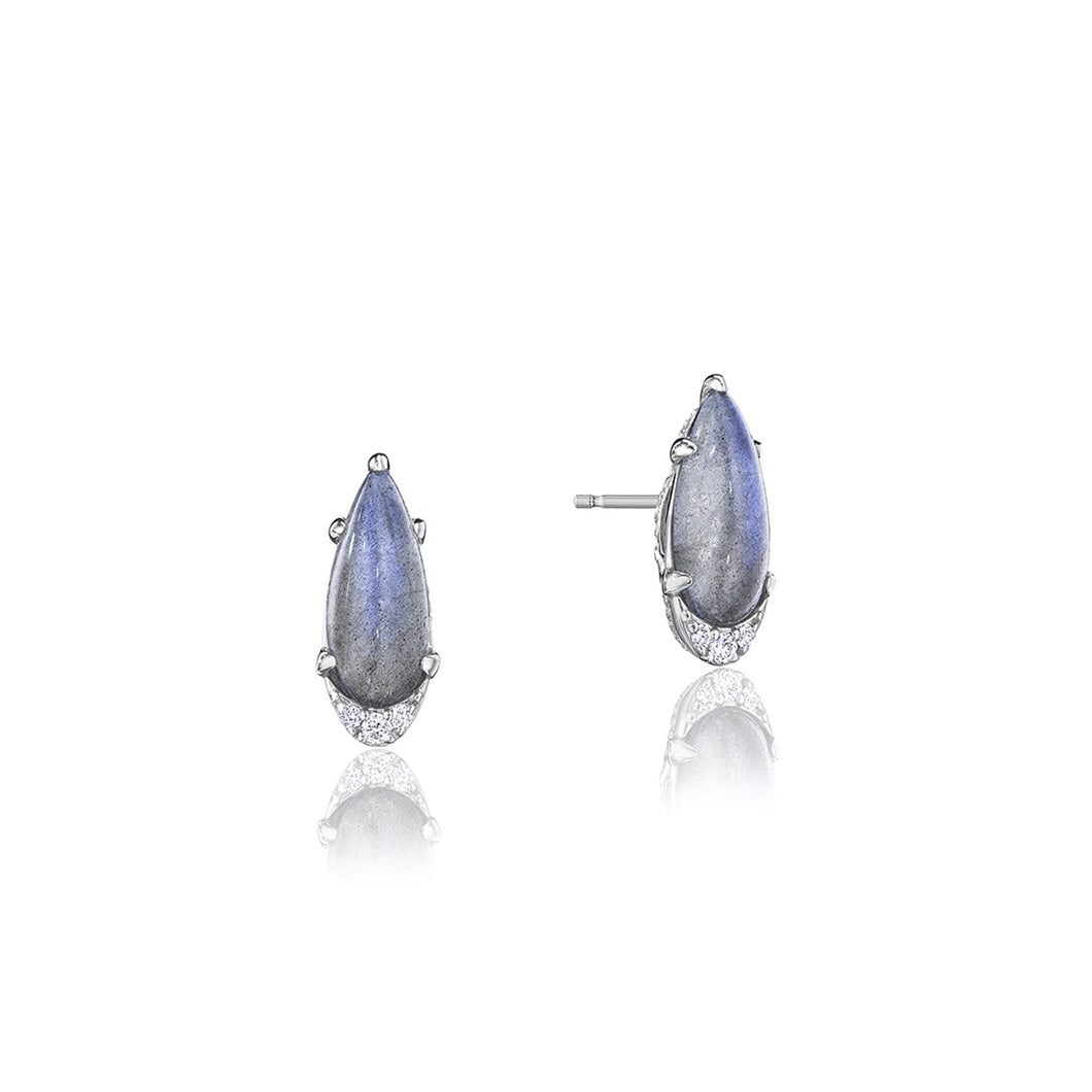 Tacori Horizon Shine Collection Pear-Shaped Gem Earrings with Labradorite